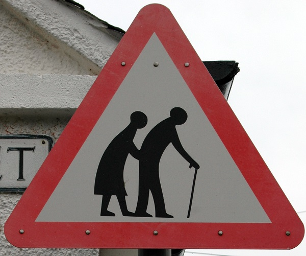 Elderly People Crosswalk Sign
