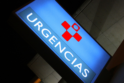 Hospital Emergency Sign Ugencias Tomás Fano
