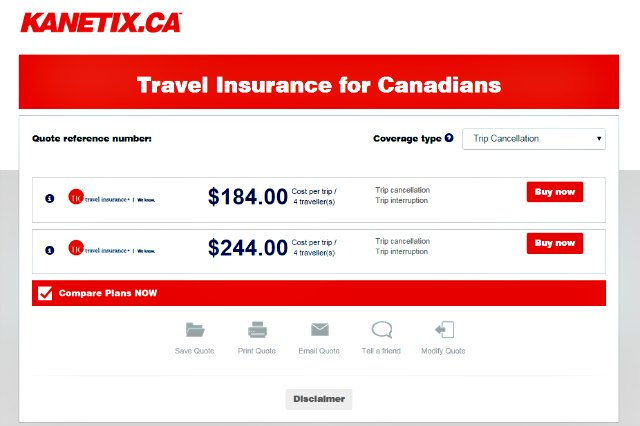 Travel Cancellation Insurance Reviews Canada