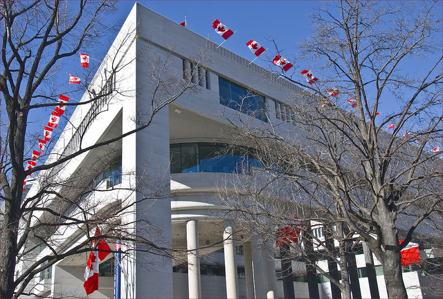 Canadian Embassy Pennsylvania NW Washington Photo By  Ron Cogswell
